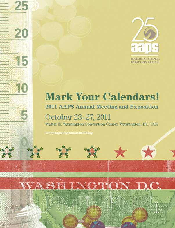AAPS 2011 Mark Your Calendars
